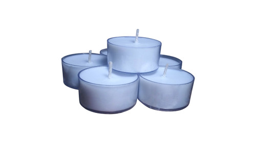 All Natural Natural Aromatherapy  Lavender Colored Essential Oils Soy Wax Tea light  Candles 12 pack