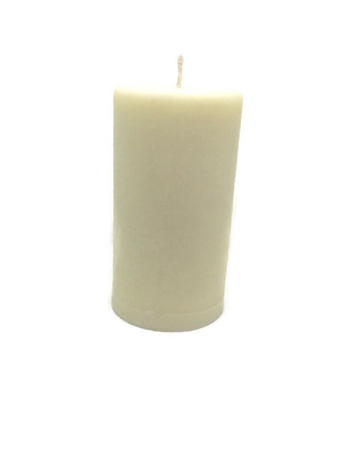 Aromatherapy Vegan Organic Dye free Basil Peppermint 2 Inches x 3.8 Inches Pillar Candle