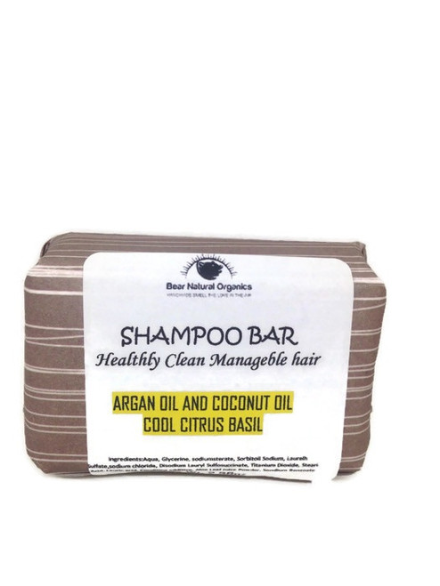 Citrus basil argan and coconut oil shampoo bat