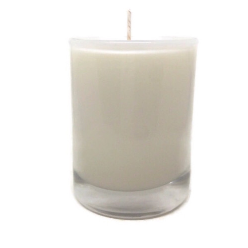 Unscented Natural Kosher Soy Wax Glass Votive Dye Free  Set of 6