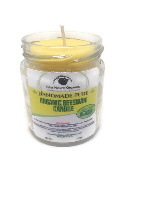 beeswax container candle