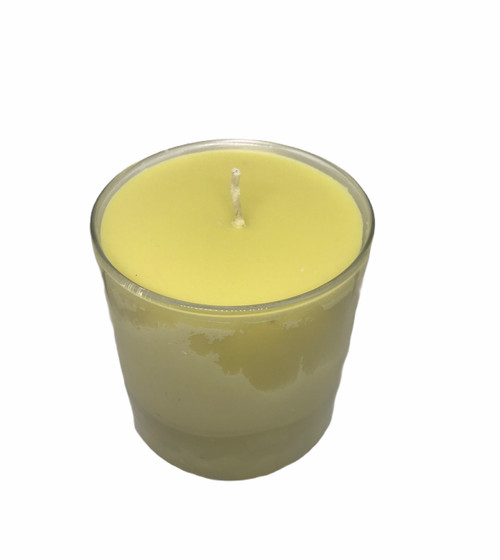 "Pure Natural Handmade  Golden Yellow Honey 100 % Beeswax Pillar Candle 3"" x 4"""