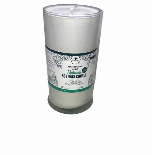 "All Natural  Dye Free Unscented Soy Wax 3 "" x 4""  Pillar Candle"