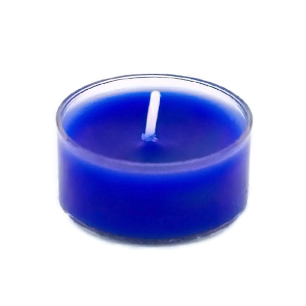 Handmade organic soy wax blue tealight candles pack of  20