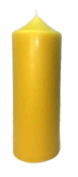 Organic beeswax pillar candle