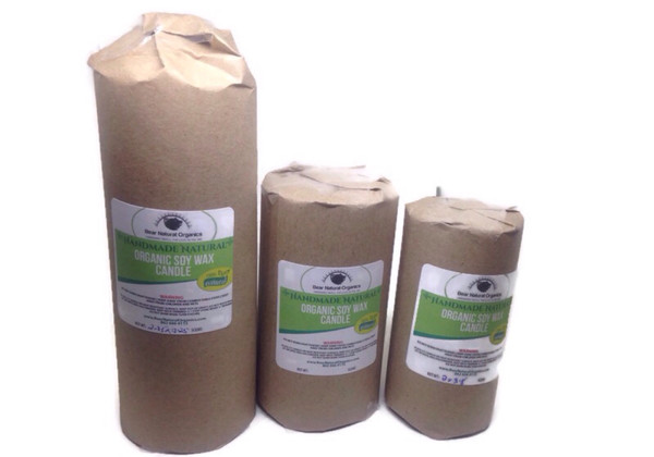Pillar set of 3 organic