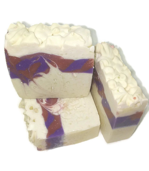 Black raspberry swirl  soap