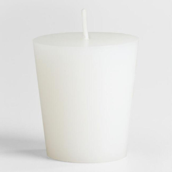 white soy wax votive candle