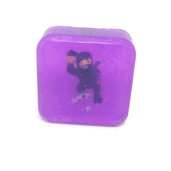 Kids Soap Clear Soap with Toy inside - Natural Ninjah Mini Toys you Get 1 Bar