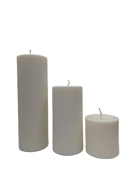 3 inches x 6 inches Soy Wax Pillar Candle