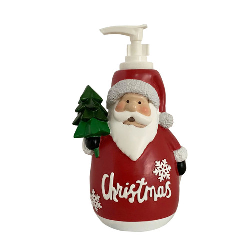 Santa with Birds Lotion Dispenser