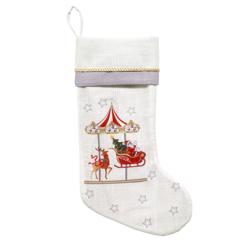 Mr. Christmas® Carousel Stocking with Music and Lights