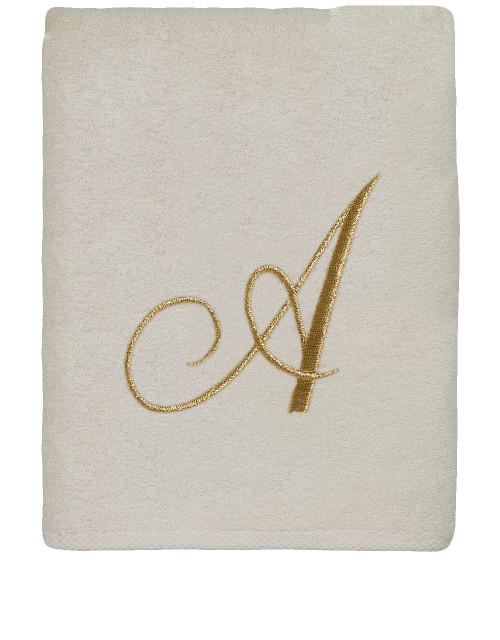 Ivory Gold Script Monogram