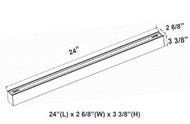 2 Foot LED Superior Architectural Seamless Linear Light - Multi Color Temp. Size