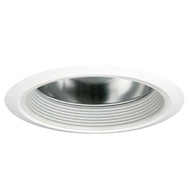 """6"""" Open Clear Reflector with White Baffle for HID and Incandescent Recessed Lights"""