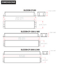Constant-Power Emergency LED Driver, Size