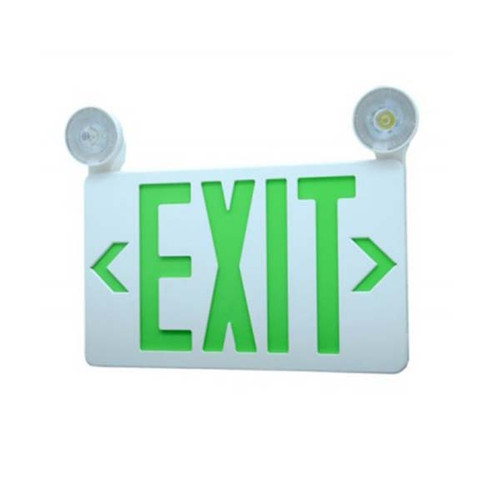 High Output, Low Profile, Two Adjustable Head LED Exit-Emergency Combo 2x2W