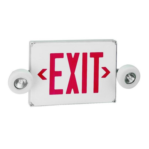 Low Profile Two-Head LED Emergency Exit/Light Wet Location