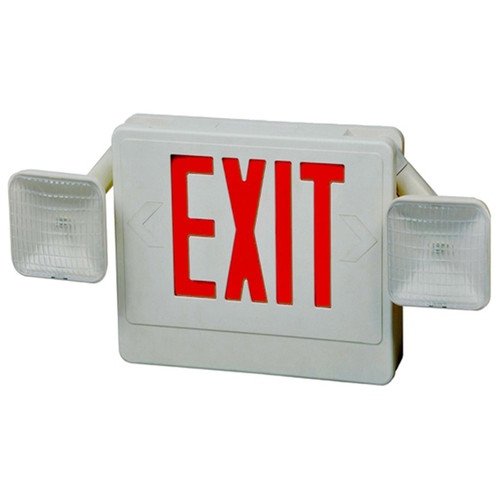 LED Combo Exit/Emergency Light With Red Letters