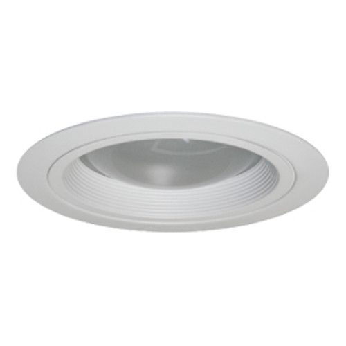 """10"""" Clear Reflector with Regressed Lens in Black Baffle Trim for CFL Recessed Lights"""