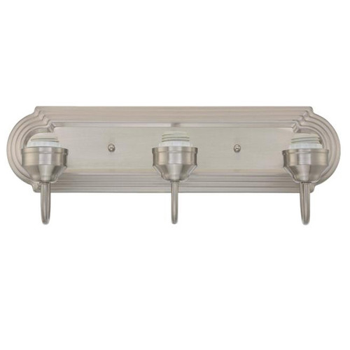 Westinghouse Three-Light Indoor Wall Fixture Brushed Nickel Finish