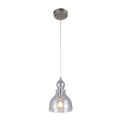Westinghouse One-Light Indoor Mini Pendant with Hand Blown Clear Seeded Glass