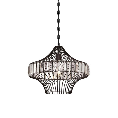 Westinghouse One-Light Indoor Pendant with Crystal Prism Cage Shade