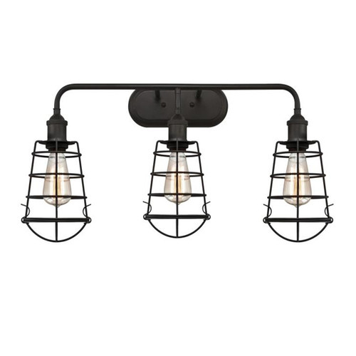 Westinghouse Oliver Three-Light Indoor Wall Fixture with Cage Shades