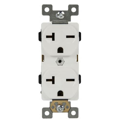 Enerlites Industrial Grade Duplex Receptacle 20A/250V, 6-20R