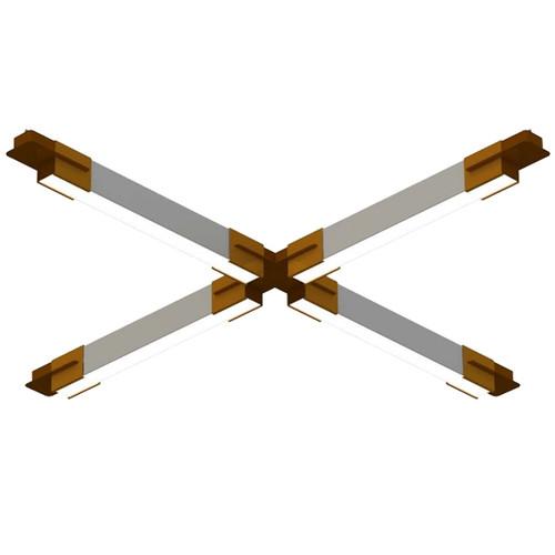 Polygon Series Geometric LED Pendant Bracket System - The Cross