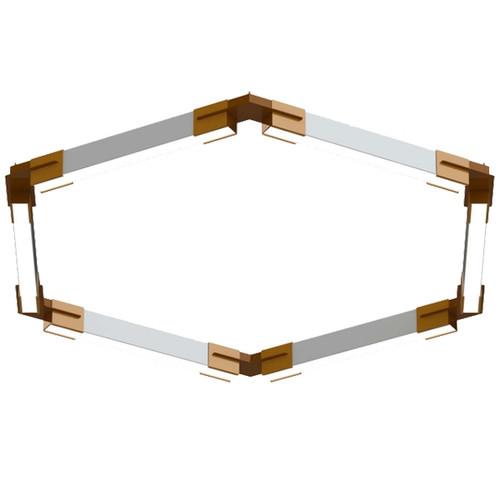 Polygon Series Geometric LED Pendant Bracket System - The Hexagon