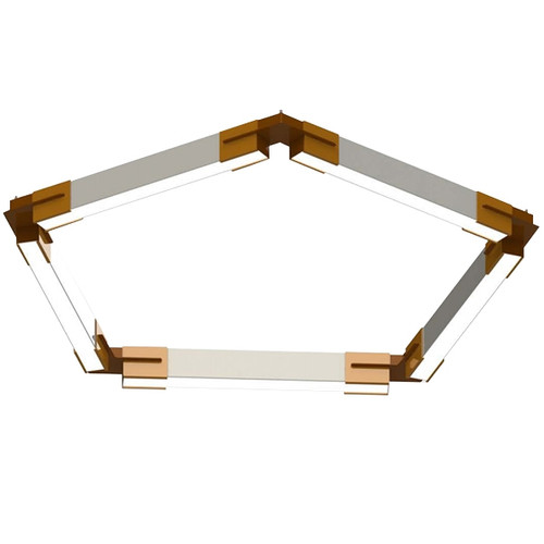 Polygon Series Geometric LED Pendant Bracket System - The Pentagon