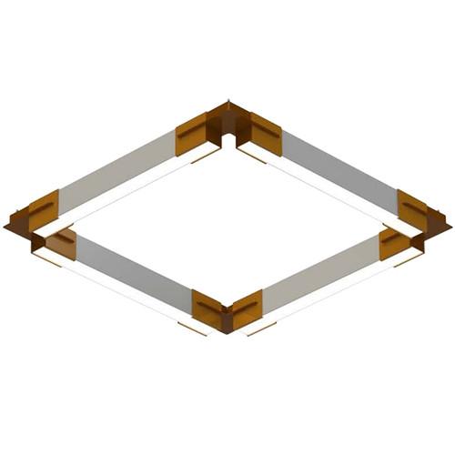 Polygon Series Geometric LED Pendant Bracket System - The SquareRectangle