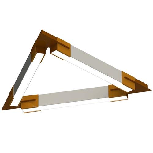 Polygon Series Geometric LED Pendant Bracket System - The Triangle