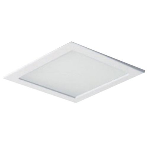 """White Square Trim w Flat Frosted Lens Frame  9-38"""" Square"""