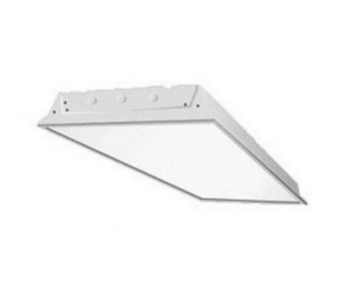 4 Lamp T5HO Fluorescent High Bay Grid Mount, Hinged & Latched Door Frame