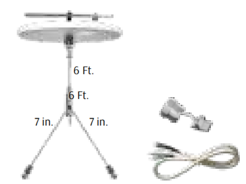 Adjustable 6ft 1/16in Single Canopy Set with Double Keyhole End Connectors, Power Side with White Cord