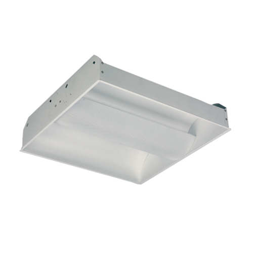3 Lamp 17W T8 Center Basket Recessed Indirect