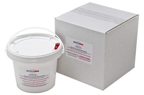 1 Gal Dry Cell Battery Recycling Pail