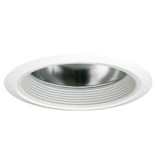 """8"""" Open Clear Reflector with White Baffle for HID and Incandescent Recessed Lights"""