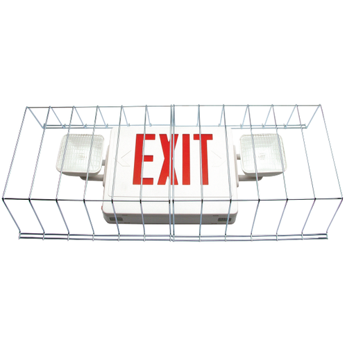 Wire Guard for Exit and Emergency Combo Fixtures