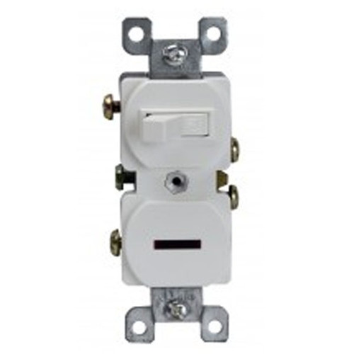Enerlites Residential Grade Switch with Pilot Light Single Pole 15A, 120VAC