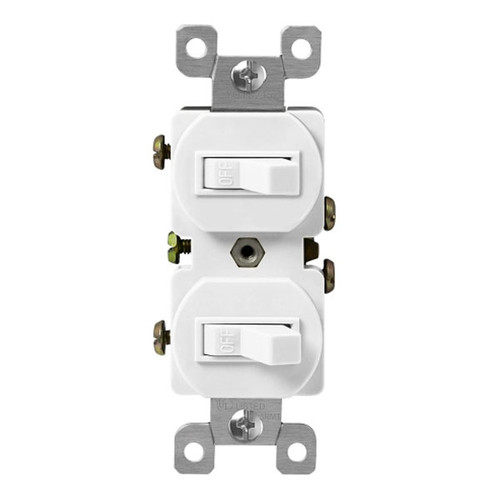 Enerlites Residential Grade Double Toggle Single Pole 15A, 120VAC