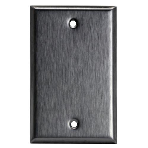Enerlites Commercial Over-Size 1-Gang Blank Metal Plate Stainless Steel