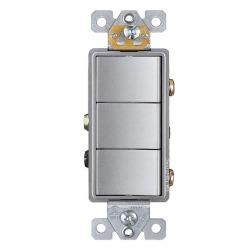 Enerlites Commercial Decorator Triple Rocker Switch Single Pole