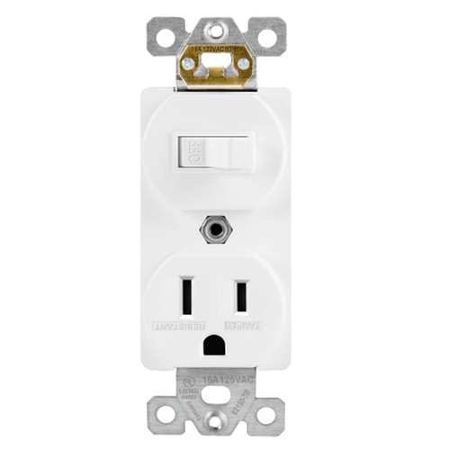 Enerlites Residential Grade Switch with Receptacle Single Pole
