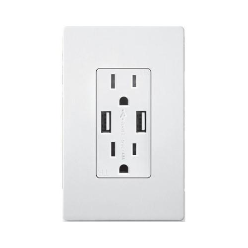 Enerlites Dual Type USB Duplex Receptacle 4.8A 15A