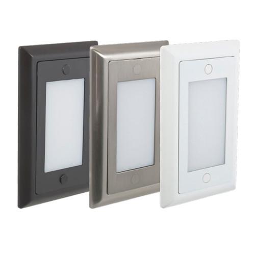 American Lighting IndoorOutdoor Smooth Lens Faceplate LED Step Light