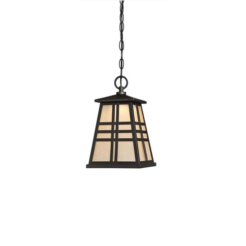 Westinghouse Creekview One-Light LED Outdoor Pendant with Amber Frosted Seeded Glass