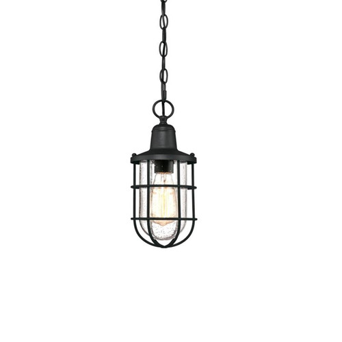 Westinghouse Crestview One-Light Outdoor Pendant with Clear Seeded Glass